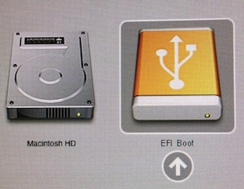 How to set the default boot partition with ESXi on a Mac